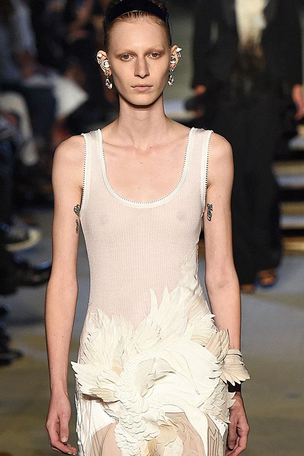 **Julia Nobis** <br><br> Australian model Julia Nobis has several tattoos on her upper arms.