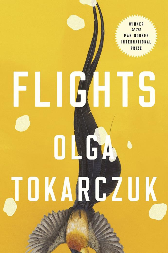 "*Flights* by Olga Tokarczuk <br><br> The winner of this year's Man Booker International Prize is now available, and your bookshelf is all the better for it. Crisscrossing time and place, the [myriad characters](https://lareviewofbooks.org/article/complex-harmonies-on-olga-tokarczuks-flights/#!|target=""_blank""