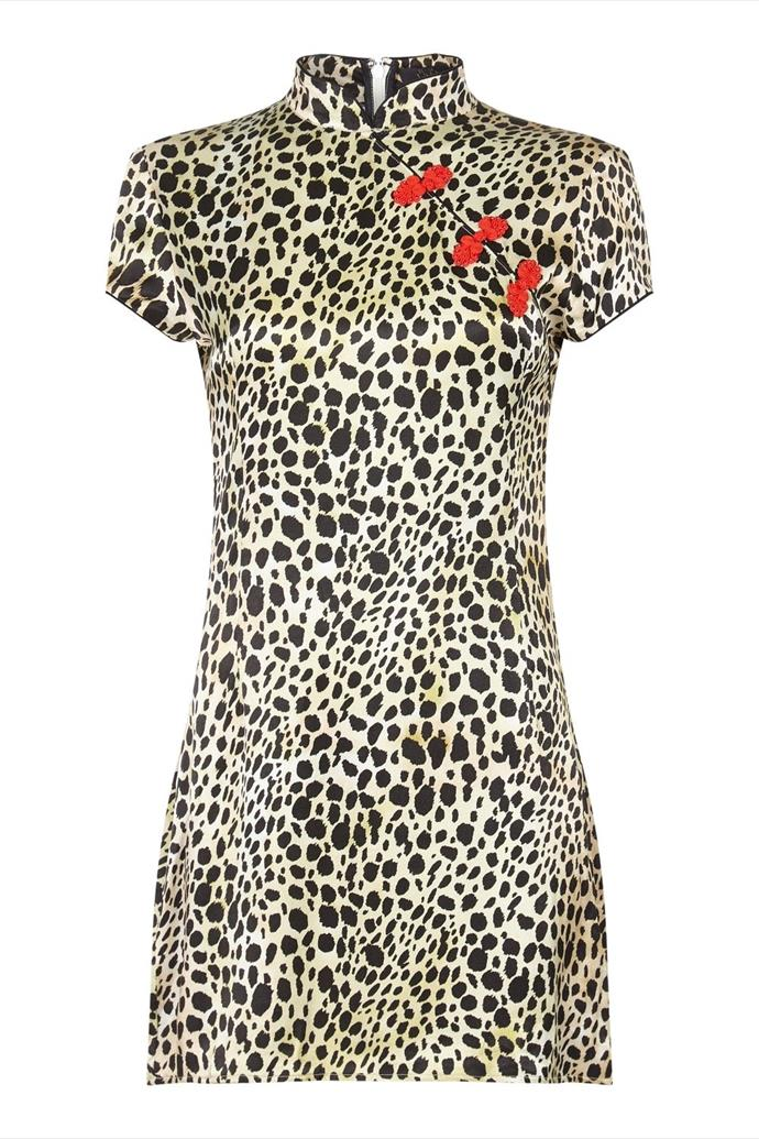 "'Suki' Leopard-Print Dress, $522, [De La Vali](https://delavali.com/products/suki-dress-leopard|target=""_blank"")"