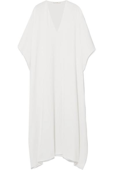 "'Vikita' oversized kaftan, $2,634, The Row at [Net-a-Porter](https://www.net-a-porter.com/au/en/product/1043593/the_row/vikita-oversized-cady-kaftan|target=""_blank"")"