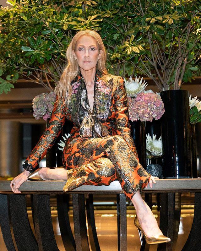 "Céline shared this baroque-inspired look on [her Instagram](https://www.instagram.com/p/Bl_iauOAEm0/?taken-by=celinedion|target=""_blank""). With a Redemption scarf, Dolce & Gabbana suit and Balenciaga heels, this is one of our favourite Céline looks to date."