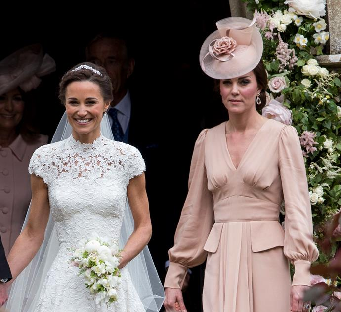 Kate Middleton (right) will likely want to be by sister Pippa's side when she gives birth to her first child.