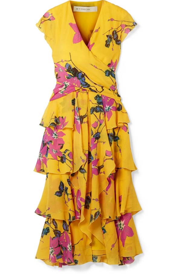 "Dress by Etro, $2,664 at [Net-a-Porter](https://www.net-a-porter.com/au/en/product/1055789/etro/ruffled-floral-print-silk-crepe-de-chine-midi-dress|target=""_blank""