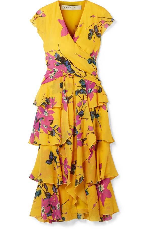 "Dress by Etro, $2,664 at [Net-a-Porter](https://www.net-a-porter.com/au/en/product/1055789/etro/ruffled-floral-print-silk-crepe-de-chine-midi-dress target=""_blank"" rel=""nofollow"")"