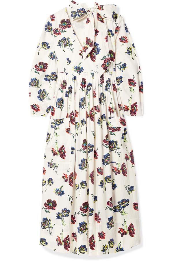 "Dress by Ulla Johnson, $419 at [Net-a-Porter](https://www.net-a-porter.com/au/en/product/1060073/ulla_johnson/isabeau-pleated-floral-print-cotton-poplin-midi-dress target=""_blank"" rel=""nofollow"")"
