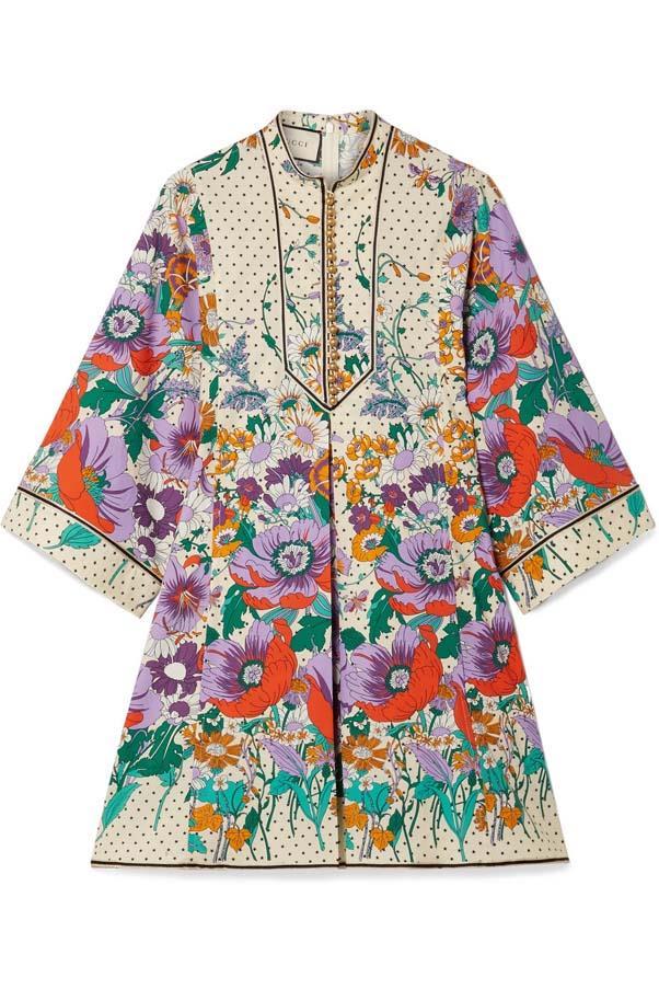 "Dress by Gucci, $3,190 at [Net-a-Porter](https://www.net-a-porter.com/au/en/product/1061986/gucci/printed-cotton-poplin-mini-dress target=""_blank"" rel=""nofollow"")"