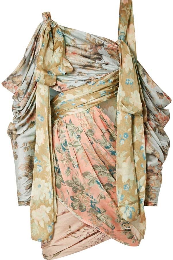 "Dress by Zimmermann, $2,428 at [Net-a-Porter](https://www.net-a-porter.com/au/en/product/1079076/zimmermann/elixir-cutout-draped-floral-print-silk-satin-mini-dress target=""_blank"" rel=""nofollow"")"