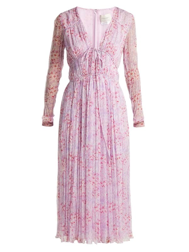 "Dress by Carolina Herrera, $4,100 at [MATCHESFASHION.COM](https://www.matchesfashion.com/au/products/Carolina-Herrera-Floral-print-silk-chiffon-dress-1214892|target=""_blank""