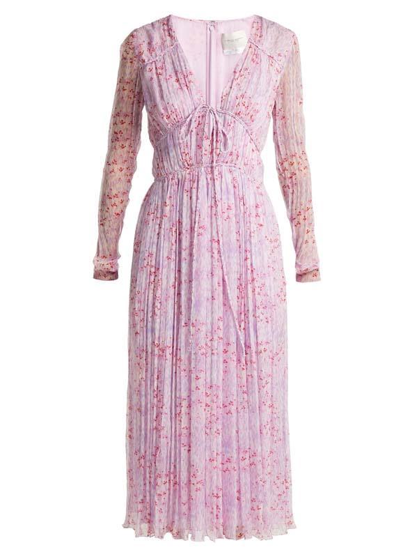 "Dress by Carolina Herrera, $4,100 at [MATCHESFASHION.COM](https://www.matchesfashion.com/au/products/Carolina-Herrera-Floral-print-silk-chiffon-dress-1214892 target=""_blank"" rel=""nofollow"")"