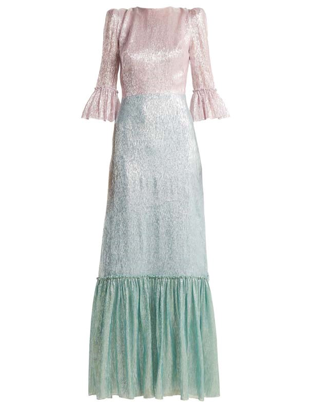 "Dress by The Vampire's Wife, $3,035 at [MATCHESFASHION.COM](https://www.matchesfashion.com/au/products/The-Vampire%27s-Wife-Festival-Neapolitan-silk-blend-dress--1224579|target=""_blank""