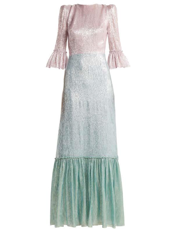 """Dress by The Vampire's Wife, $3,035 at [MATCHESFASHION.COM](https://www.matchesfashion.com/au/products/The-Vampire%27s-Wife-Festival-Neapolitan-silk-blend-dress--1224579 target=""""_blank"""" rel=""""nofollow"""")"""