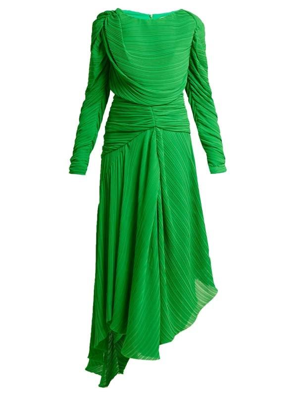 "Dress by Preen by Thornton Bregazzi, $2,203 at [MATCHESFASHION.COM](https://www.matchesfashion.com/au/products/Preen-By-Thornton-Bregazzi-Kitty-draped-pleated-georgette-dress-1231863 target=""_blank"" rel=""nofollow"")"