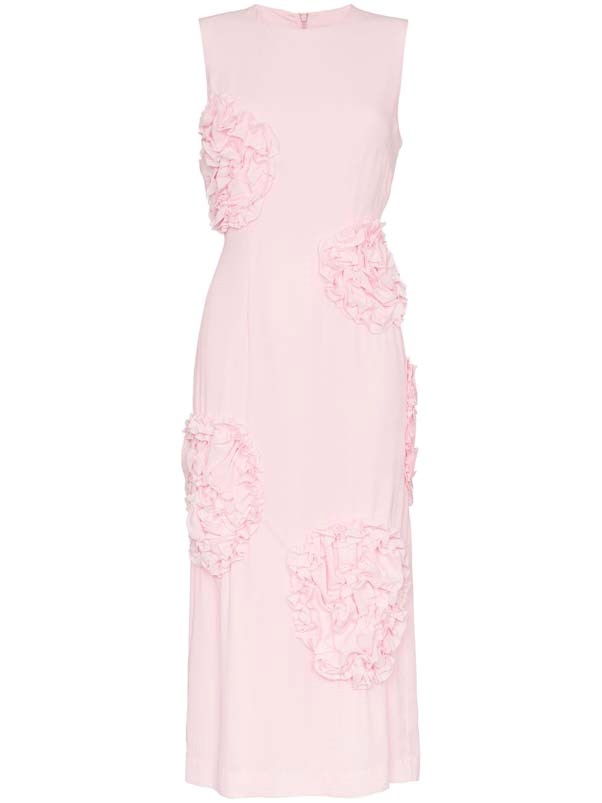 "Dress by Simone Rocha, $1,647 at [Farfetch](https://www.farfetch.com/au/shopping/women/simone-rocha-sleeveless-rose-embellished-dress--item-13104751.aspx?storeid=9359|target=""_blank""
