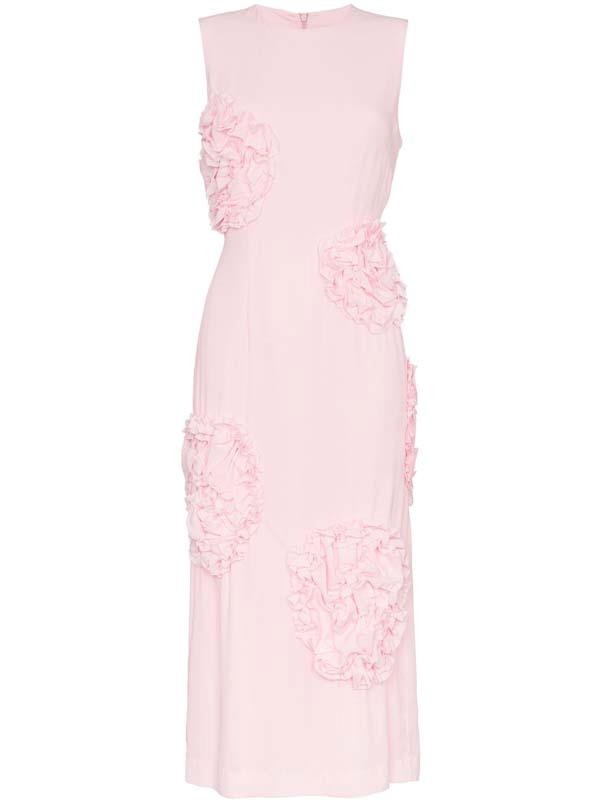 "Dress by Simone Rocha, $1,647 at [Farfetch](https://www.farfetch.com/au/shopping/women/simone-rocha-sleeveless-rose-embellished-dress--item-13104751.aspx?storeid=9359 target=""_blank"" rel=""nofollow"")"