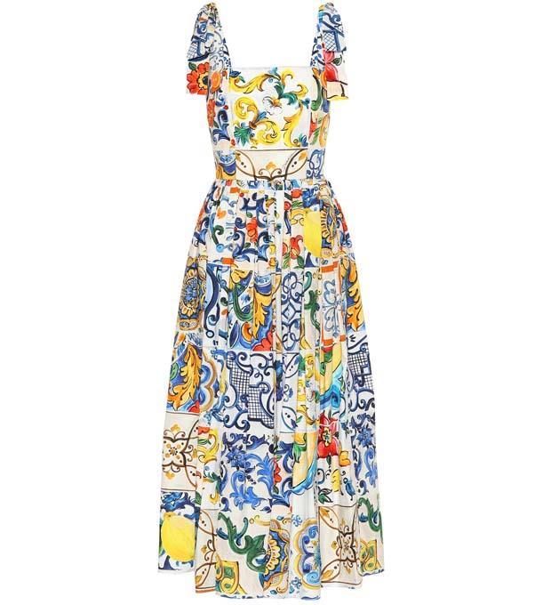 "Dress by Dolce & Gabbana, $2,400 at [Mytheresa](https://www.mytheresa.com/en-au/dolce-gabbana-printed-cotton-dress-1023965.html?catref=category target=""_blank"" rel=""nofollow"")"