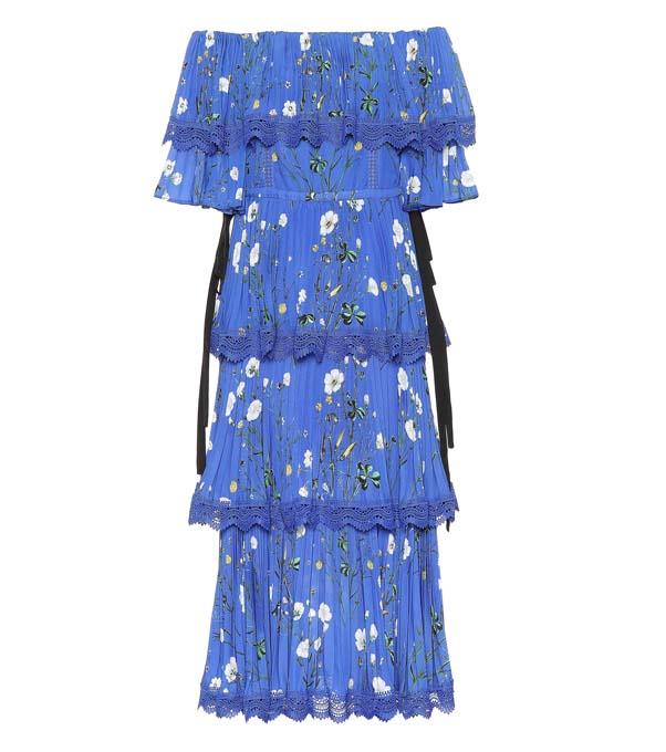 """Dress by Self-Portrait, $895 at [Mytheresa](https://www.mytheresa.com/en-au/self-portrait-exclusive-to-mytheresa-com-floral-printed-crepe-midi-dress-1010484.html?catref=category target=""""_blank"""" rel=""""nofollow"""")"""