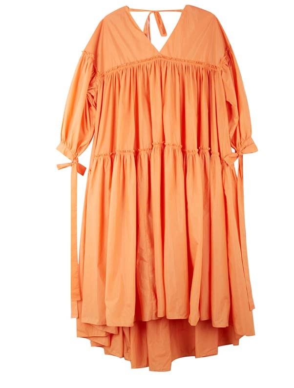 "Dress by Rejina Pyo, $735 at [My Chameleon](https://www.mychameleon.com.au/sale-3/sara-gathered-dress-orange-rejina-pyo|target=""_blank""