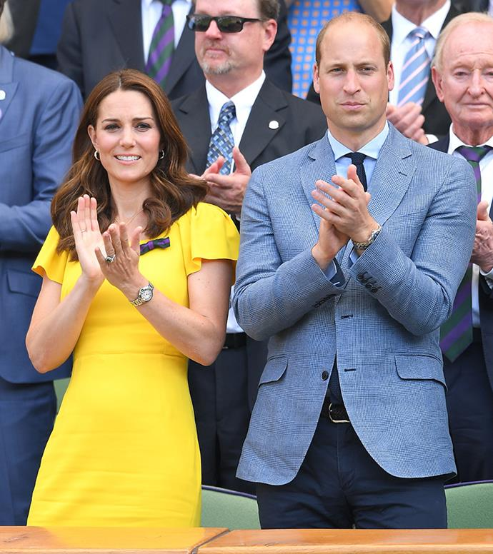 The Duchess of Cambridge and Prince William at Wimbledon last month.