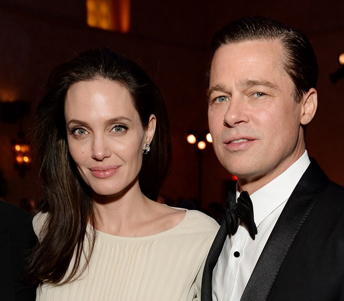 Angelina Jolie and Brad Pitt in November 2015, a year before their divorce.