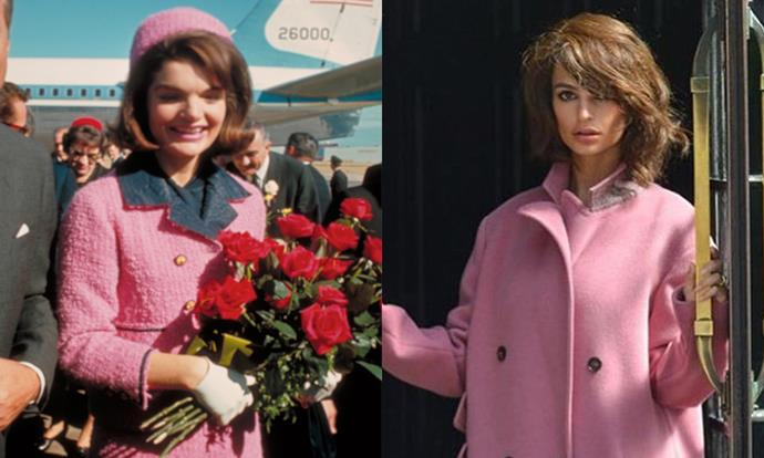 "Emily Ratajkowski was spotted in New York recently for a Jackie O-inspired shoot, and she looked every bit the part. <br><br> Images: Getty and [@alemdergisi](https://www.instagram.com/p/BmAhYGHFI8Z/?hl=en&tagged=emilyratajkowski|target=""_blank""