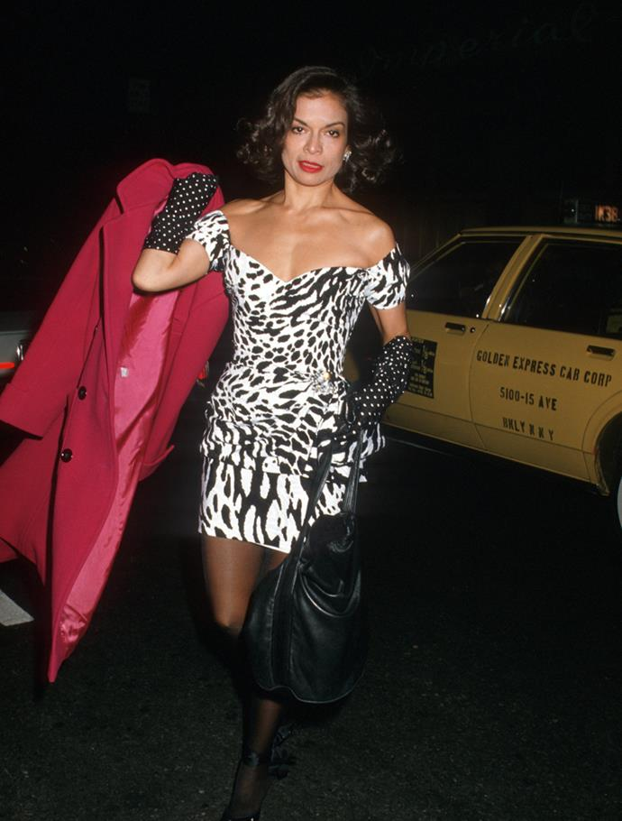 Arriving at the *Vanity Fair* 5th Anniversary Celebration, 1988