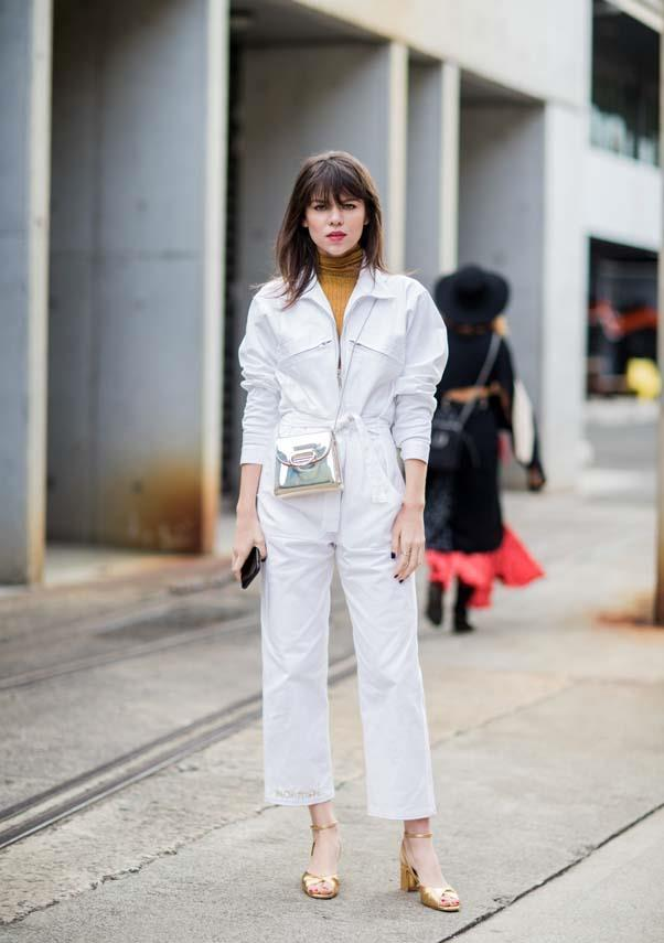 **White boiler suits**