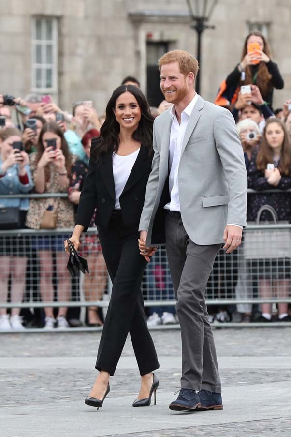 **The Duke and Duchess of Sussex** <br><br> Naturally, Prince Harry and his wife Meghan Markle will attend Harry's cousin's wedding.