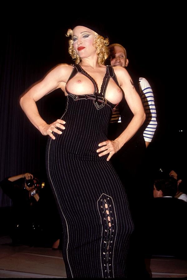 ***1992:*** Madonna walked the runway at a fashion benefit for AIDS hosted by Jean Paul Gaultier, exposing pretty much everything in the process.