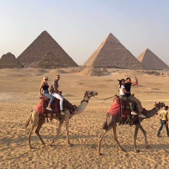 "**AUGUST 2017** <br><br> For their second holiday as a couple, Kardashian and Bendjima jetted to Egypt.  <br><br> ""She arrived in Cairo on Sunday with Younes and several friends,"" a source told [*PEOPLE*](https://people.com/home/kourtney-kardashian-vacations-with-younes-bendjima-in-egypt/