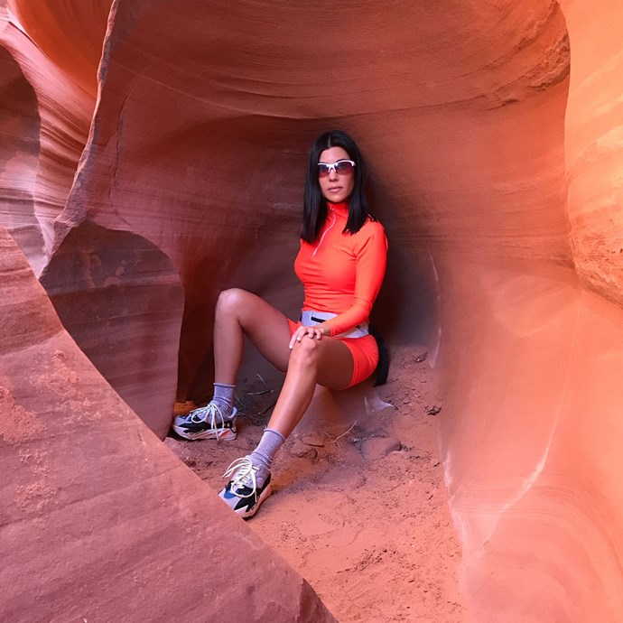 "**MAY 2018** <br><br>  To celebrate the model's 25th birthday, Kardashian took her model boyfriend on a [surprise birthday adventure](https://www.cosmopolitan.com/entertainment/celebs/a20199025/kourtney-kardashian-younes-bendjima-25th-birthday-colorado-river/|target=""_blank""
