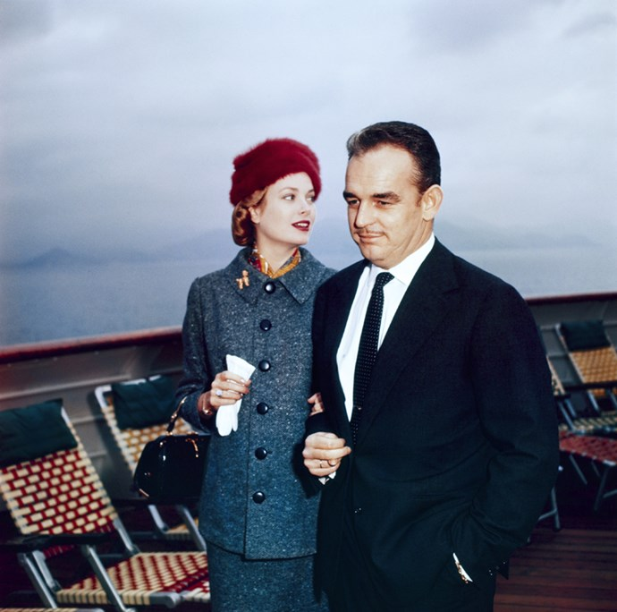 In Cannes onboard the SS Constitution, 1956