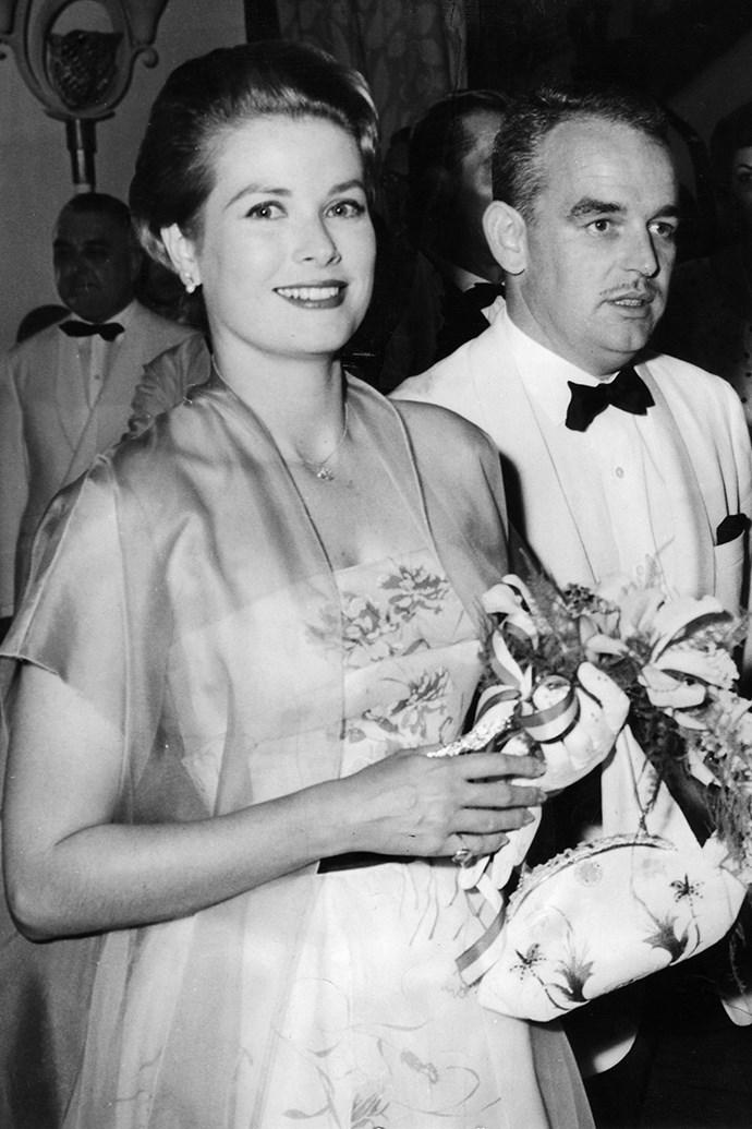 With Prince Rainier III in Germany, 1958