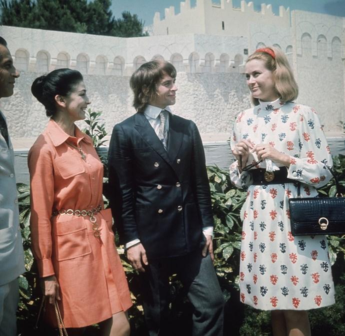 With ballerinas Margot Fonteyn and Rudolf Nereyev before the Monte Carlo Ballet, 1968