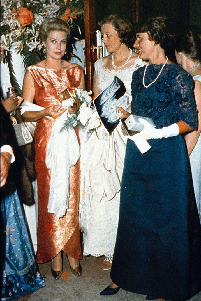 At the Gala of The Retro Red Cross in Monaco, 1970