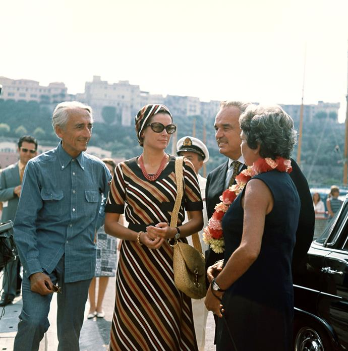 With Jacques Costeau and Simon Melchoir in Monaco, 1970