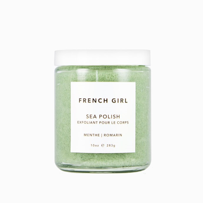 "French Girl Menthe Romarin Sea Polish, $52 at [French Girl](https://www.frenchgirlorganics.com/products/sea-polish-menthe-romarin|target=""_blank""