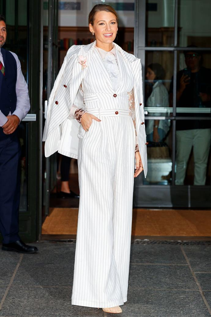 *A Simple Favour* press tour, New York City, August 18 2018.