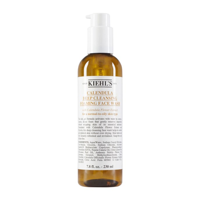 """**CLEANSER:** <br><br> Kiehl's Calendula Deep Cleansing Foaming Face Wash, $40 at [Adore Beauty](https://www.adorebeauty.com.au/kiehls/kiehl-s-calendula-face-wash.html