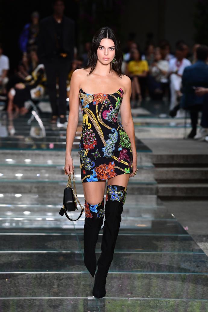 Kendall Jenner Versace menswear spring summer '19