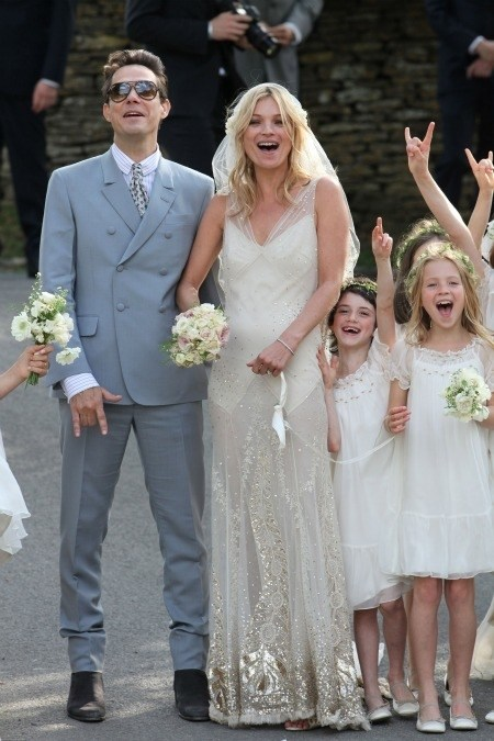 Kate Moss wore John Galliano to marry Jamie Hince in 2011.