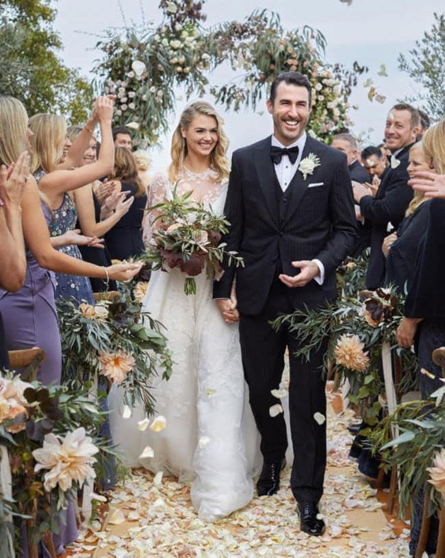 [Kate Upton wore Valentino to marry Justin Verlander](https://www.harpersbazaar.com.au/bazaar-bride/kate-uptons-wedding-dress-valentino-justin-verlander-14890) in 2018.