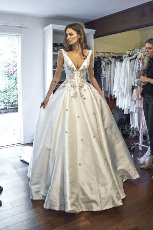 [Nicole Trunfio wore Steven Khalil to marry Gary Clark Jr.](https://www.harpersbazaar.com.au/bazaar-bride/nicole-trunfio-wedding-dress-13209) in 2016.
