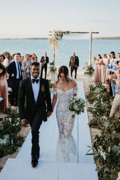 [Shanina Shaik wore Ralph & Russo to marry](https://www.harpersbazaar.com.au/bazaar-bride/shanina-shaik-wedding-16391) Gregory Andrews (AKA DJ Rukus) in 2018.