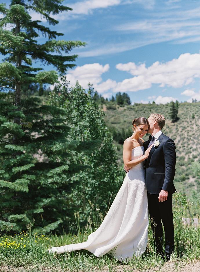 [Emily Didonato wore Oscar de la Renta to marry](https://www.harpersbazaar.com.au/bazaar-bride/emily-didonato-wedding-photos-17003) Kyle Peterson in 2018.