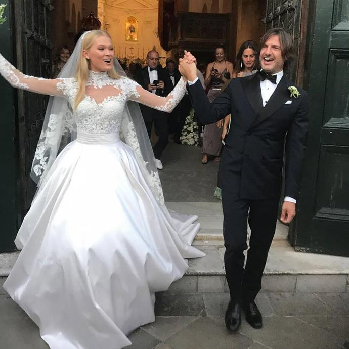 [Vita Sidorkina wore Zuhair Murad to marry](https://www.harpersbazaar.com.au/bazaar-bride/vita-sidorkina-wedding-pictures-13926) Valerio Morabito in 2017.