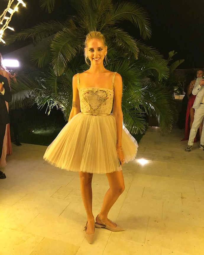 The third dress, also custom Dior