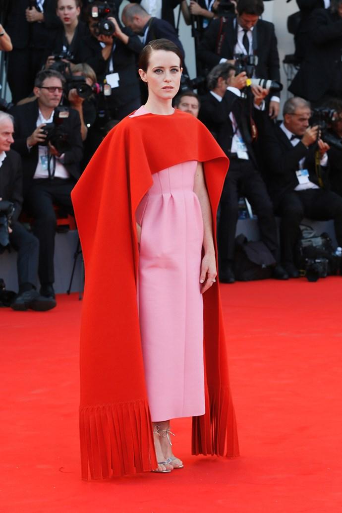 Claire Foy in Valentino Haute Couture