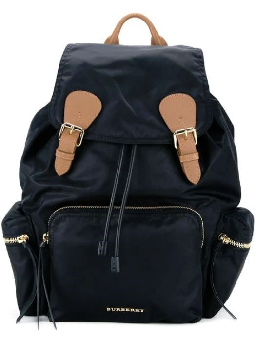 """*Burberry Large Rucksack in Technical Nylon and Leather, $2,150, [Farfetch](https://www.farfetch.com/au/shopping/women/burberry-the-large-rucksack-in-technical-nylon-and-leather-item-11646303.aspx?storeid=9530