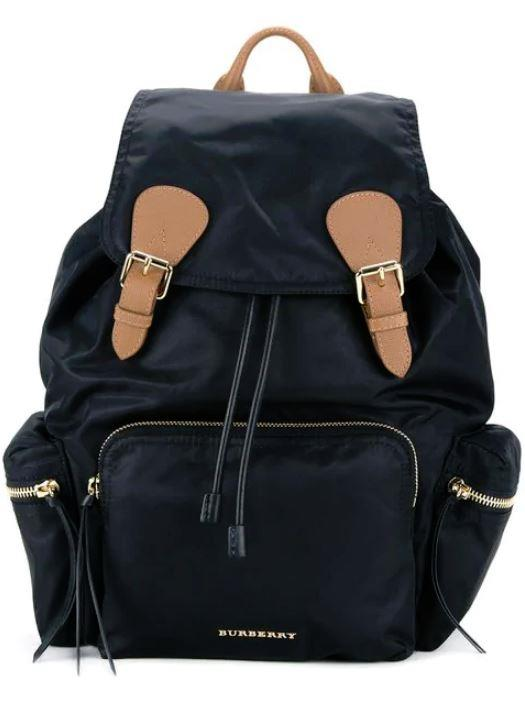 "*Burberry Large Rucksack in Technical Nylon and Leather, $2,150, [Farfetch](https://www.farfetch.com/au/shopping/women/burberry-the-large-rucksack-in-technical-nylon-and-leather-item-11646303.aspx?storeid=9530|target=""_blank"")*"