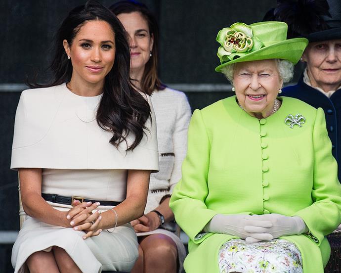 Meghan, Duchess of Sussex and Queen Elizabeth II, June 2018